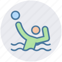 ball, man, person, playing, pool, sport, swimming icon