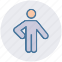 arm, human, man, people, person, point, pointer icon