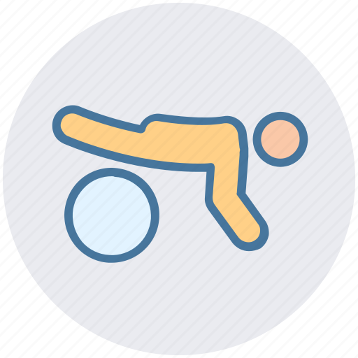 Ball, exercise, fitness, gym, plank icon - Download on Iconfinder