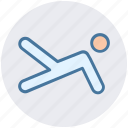 core, exercise, fitness, human, leg, person, plank icon