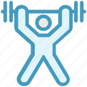 dumbbell, exercise, gym, gymnastic, stamina, strength, weight icon