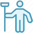 cleaner, janitor, man, mop, person, sweeper icon