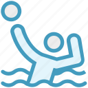 ball, person, playing, pool, sport, swimming ball, water sport icon