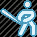 baseball, baseball bat, baseball player, bat, glove, sport, sports, sportsman icon