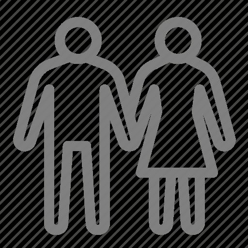 couple, human, love, man, woman icon