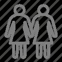 lesbian, lgbt, love, woman icon