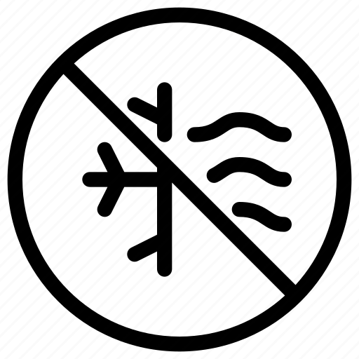 air, condition, forbidden, no, prohibited icon
