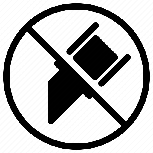 attention, cut, no, prohibited, warning icon