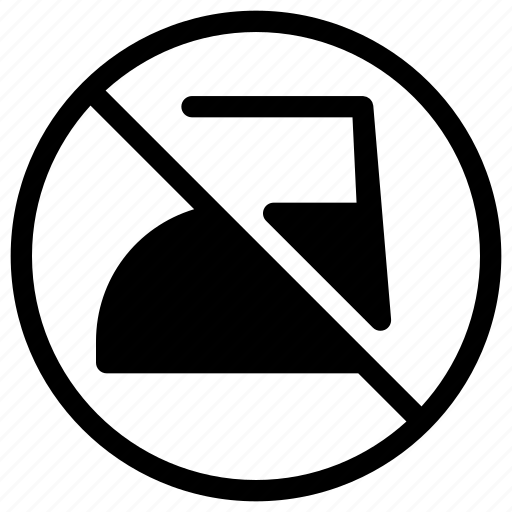 caution, exclamation, ironing, no, warning icon