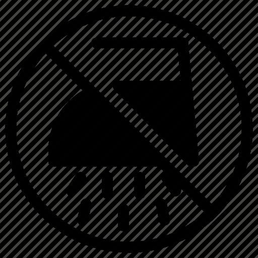 forbidden, ironing, no, prohibited, wet icon