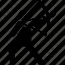 archer, archery, archery champion, arrow, man icon