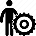 cog, garage, maintenance, repairing, services icon
