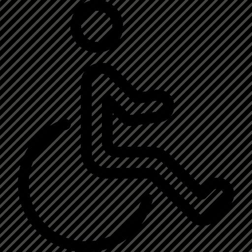 avatar, disabled, man, profile, user icon