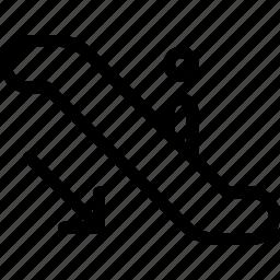 arrows, direction, down, escalator, orientation icon