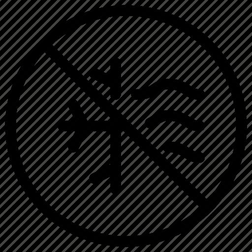 air, condition, machine, no, prohibited icon