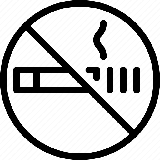 cigarette, no, prohibited, smoking, warning icon