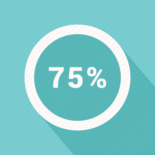 graphic, info, percent, seventy, seventy five icon