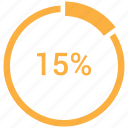 data, fifteen, graphic, info icon