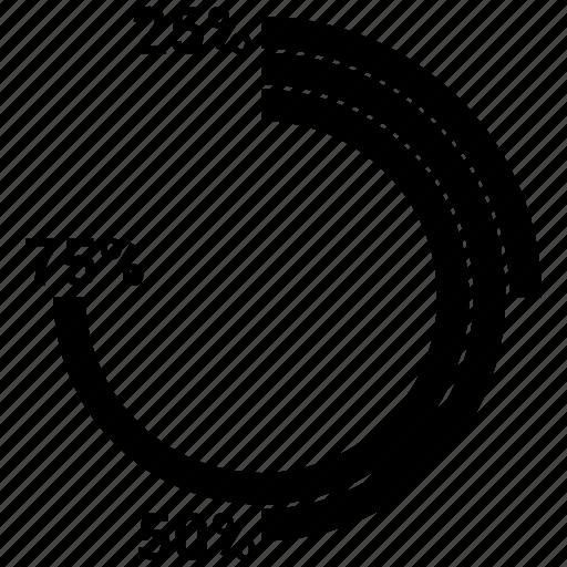 chart, graph, pie, piechart icon