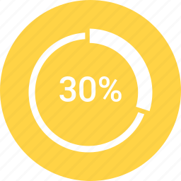 graphic, info, percent, thirty icon