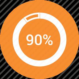graphic, info, ninty, percent icon