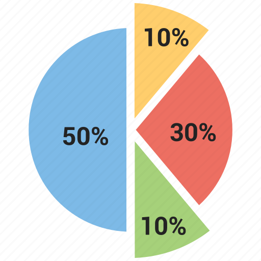 chart, infographic, percentage, pie, stats icon