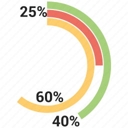 chart, graph, percentage, pie, piechart icon