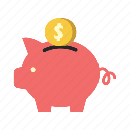bank, dollar coin, finance, money, piggy, saving, storage icon