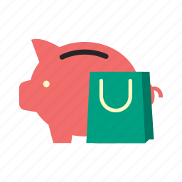 bank, finance, money, pay, piggy, saving, shopping icon