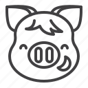 emoji, grinning, pig, piggy icon