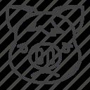 pig, frowning, piggy, sad, emoji icon