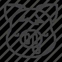 emoji, pig, piggy, sleepy icon