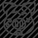 crying, pig, tears, piggy, emoji icon