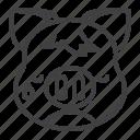 pig, tears, piggy, sad, emoji icon