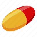 business, capsule, cartoon, isometric, logo, medical, pharmacy icon