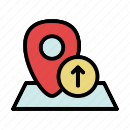 geo, location, marker, navigation, pin, top, up icon