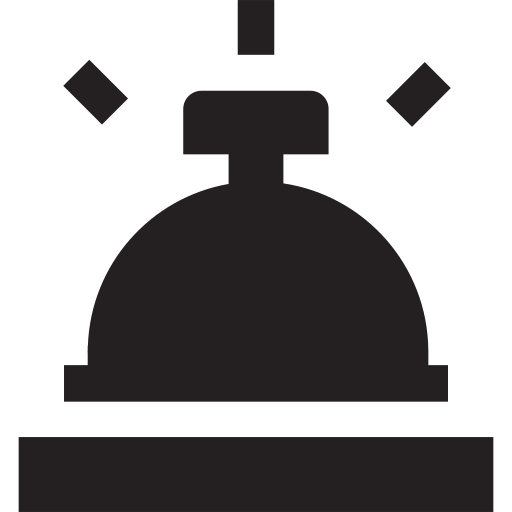 appointment, bell, book, booking, hotel, reception, reservation icon