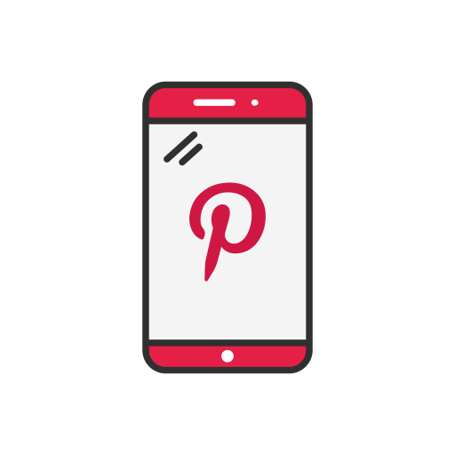 iphone, phone, pinterest, pinterest logo icon