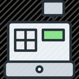 cashbox, commerce, e icon