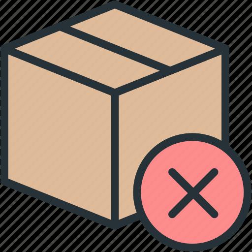 box, commerce, e, no, shipping icon
