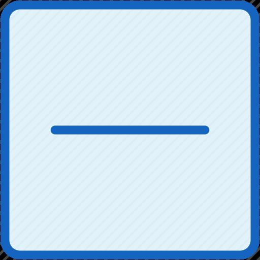 interface, minus icon