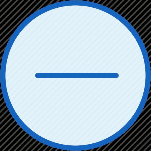 hide, interface, minus, remove icon
