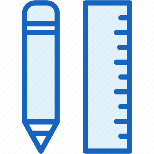 interface, linear, pencil, ruler, tools icon