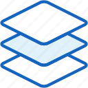 interface, layers icon
