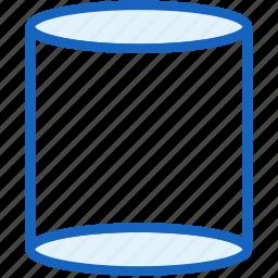 cylinder, figure, interface, shape icon