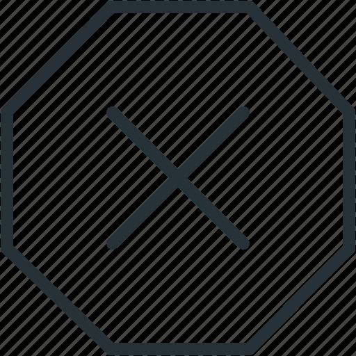 close, error, interface, stop, warning icon