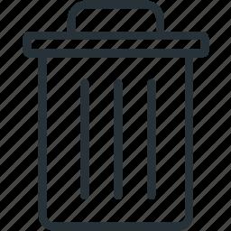 clean, interface, trash icon