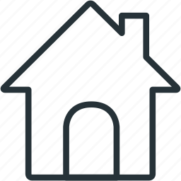 home, house, interface, main icon