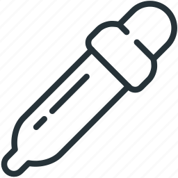 dropper, interface, pipette, tool icon