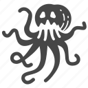 alien, kraken, monster, octopus, sea monster, squid icon